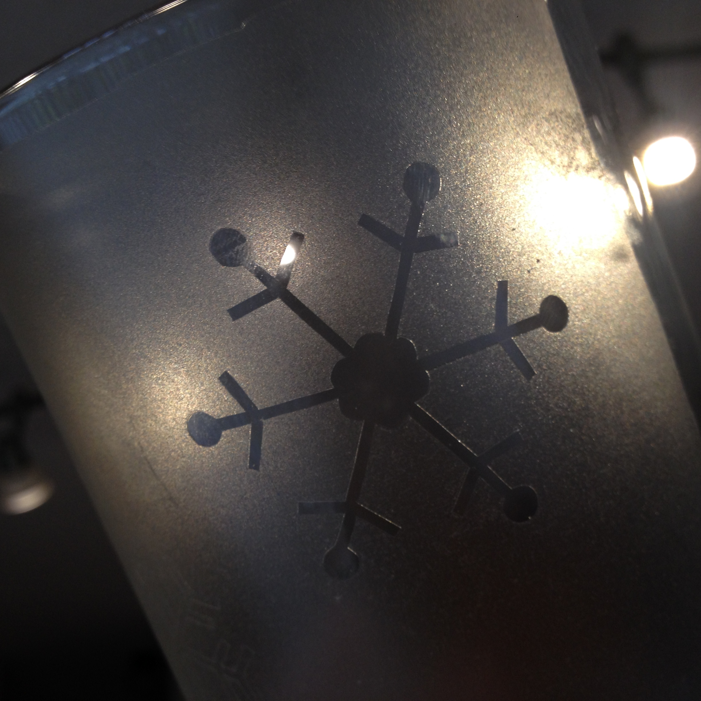 DIY Etched Glass: Snowflake Candle Holder